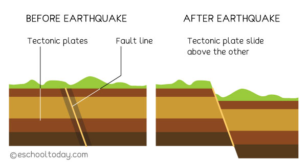 What happens to the earth's crust during an earthquake?