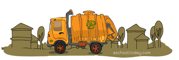 Waste disposal trucks
